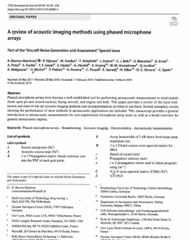 A review of acoustic imaging methods using phased microphones arrays